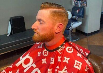 Man with a clean cut